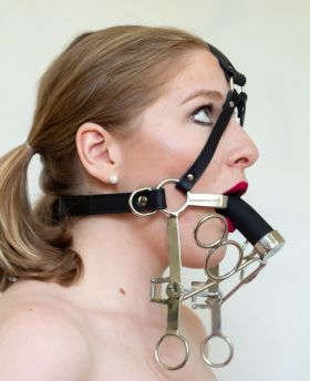 Deep throat pony gag without the accessories