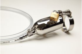 The Tap Cage chastity device, cock cage w/ Lockable sound